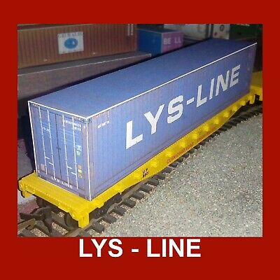 1:76 Oo Scale Cargo Rail Freight Shipping Containers Lys-line (dfds) Pre-weath