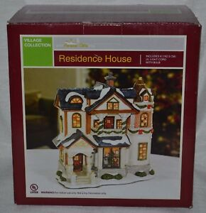 Details About Christmas Villagelighted White Residence Houseforever Giftsac Moorenew