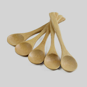 5PCS-Wooden-Spoon-Bamboo-Kitchen-Cooking-Utensil-Tool-Soup-Teaspoon-Catering