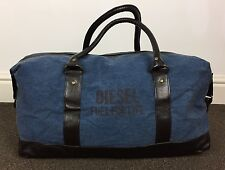 DIESEL FUEL FOR LIFE DENIM TRAVEL WEEKEND OVERNIGHT DUFFLE HOLDALL BAG