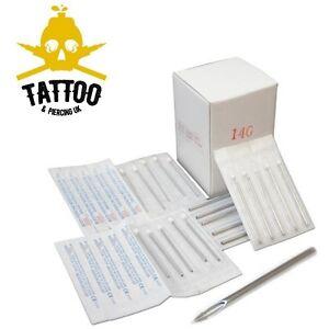 PIERCING-NEEDLES-Sterile-Stainless-Steel-Body-Ear-Piercing-Sizes-6G-20G