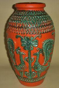 Vase-Bay-Keramik-70er-60er-Jahre-XL-Bodenvase-40-Bodo-Mans-pottery-fat-lava-WGP