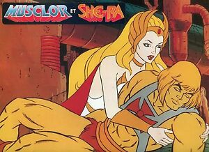 MUSCLOR-amp-SHE-RA-MASTER-OF-THE-UNIVERSE-1985-RARE-FRENCH-VINTAGE-LOBBY-CARD-1