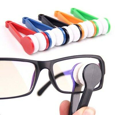 Modern Mini Glasses Eyeglass Sunglasses Spectacles Microfiber Cleaner Brush HG