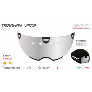 SH Chrome Replacement Visor for Triaghon Aero Bicycle Triathlon Helmet