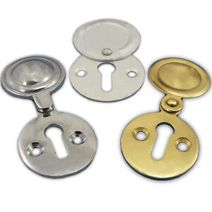 Image Is Loading KEYHOLE SWING COVER BRASS CHROME SATIN Escutcheon Key