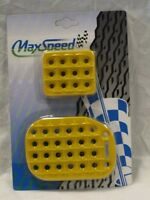 Universal Pedal Cover Yellow Manual 3pcs/set
