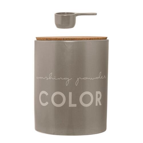 Bloomingville Vorratsdose aus Keramik Aufbewahrung für Waschmittel COLOR