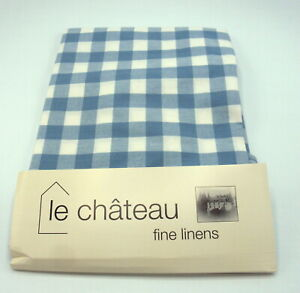 "54/"" Round Cotton Check Tablecloths 137cms Diameter 4 Colours Available"