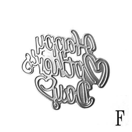 Glücklicher Muttertag Stanzformen Metall Schablone Scrapbook Album Papierka B4Y5