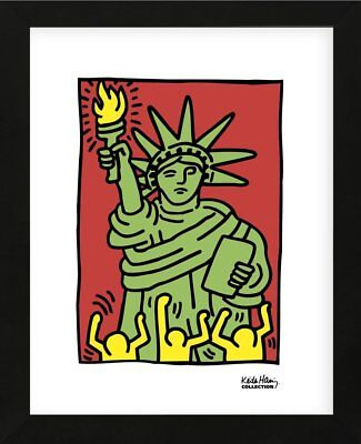 Keith Haring Statue of Liberty 1986 Abstract Contemporary Art Print Poster 11x14