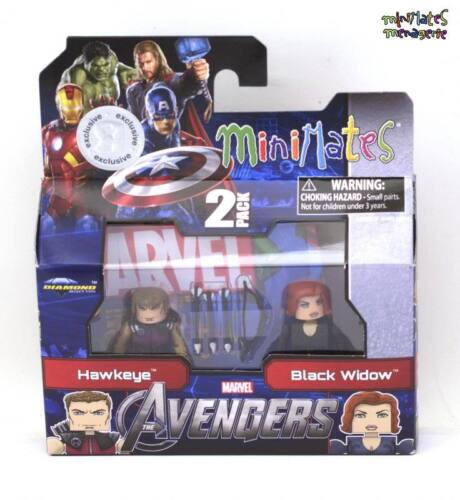 Marvel Minimates TRU Toys R Us Avengers Movie Hawkeye /& Black Widow