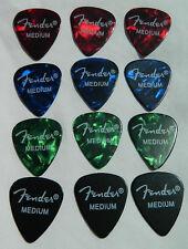 12 x Fender 351 Medium Premium Celluloid Guitar Picks / Plectrums  Marble Effect