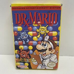 Vintage-Nintendo-Dr-Mario-NES-CIB-Complete-Manual-Cartridge-Dustcover-amp-Styro