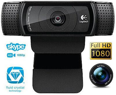 Logitech HD Webcam C920 1080p video Autofocus Carl Zeiss optics 15MP CAMERA New