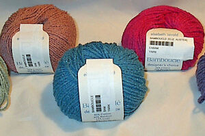 Elsebeth-Lavold-Bamboucle-Yarn-Color-Choice-Loom-Knit-Crochet-Free-Ship-Offer