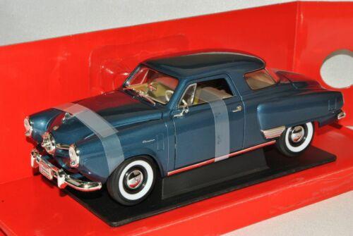 Studebaker champiom Coupe azul gris 1950 1//18 Yatming modelo coche con o sin