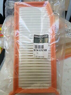 ORIGINALE OE Filtro aria RENAULT 1.5dci+1.2 TCE 165467674r DACIA SANDERO CLIO 5
