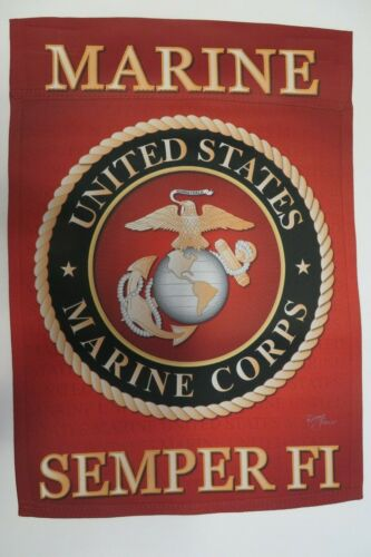 UNITED STATES MARINE CORPS Military SEMPER FI USMC decorative Garden flag