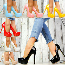 Neu Designer LuXus Damenschuhe Party Plateau Lack Pumps High Heels Club SeXy K87