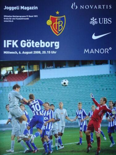 Programm UEFA CL 2008//09 FC Basel IFK Göteborg