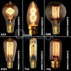 Image Is Loading E14 E27 B22 110V 220V Vintage Antique Edison