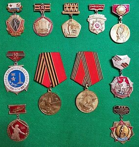 11 Russian Soviet Ussr Unique Medals World War 2 Great Patriotic