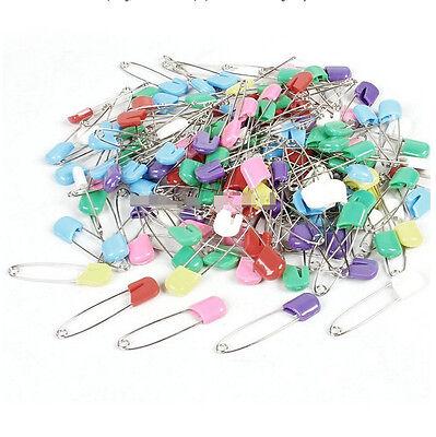 10&50 Pcs Plastic Metal Locking Cloth Nappy Diaper Safety Pins 2'' inch