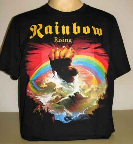 Rainbow Rising T-Shirt Size S M L XL New Hard Rock Band Metal