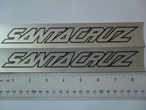 "Santa cruz  8/""x1.5/"" frame Vinyl decal weather proof 2 bike stickers many colors"