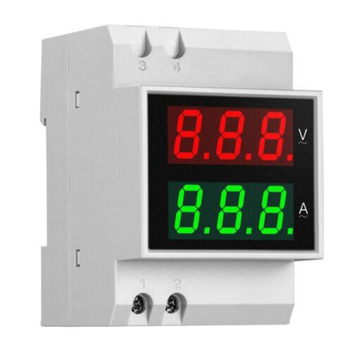 0 100A Din Rail Digital AC Voltmeter Amperemeter LED Doppelanzeige Volt AMP
