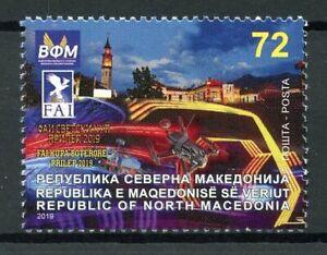 North-Macedonia-Architecture-Stamps-2019-MNH-FAI-World-Drone-Racing-1v-Set