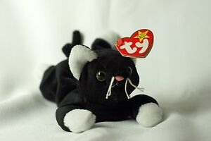 26103718a4a Ty Beanie Baby ZIP 1993 Cat w  Tag ERRORS Plush Toy RARE NEW RETIRED ...