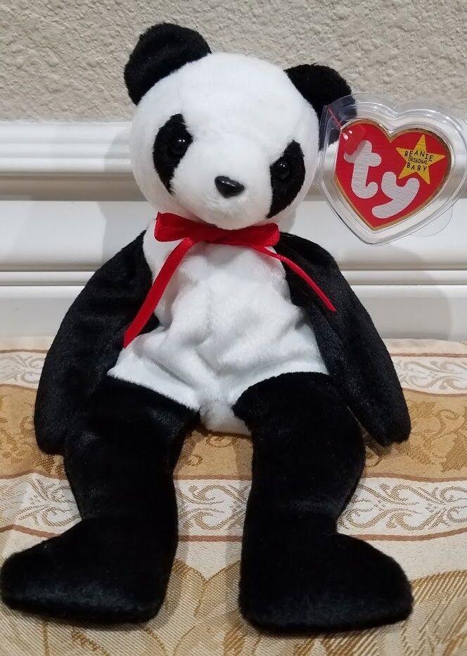 selten  ty beanie baby -  fortune  panda - mwmt w   tag beschützer