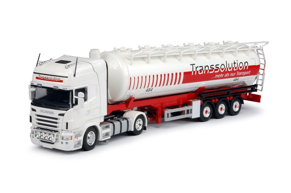 TEK64179 - Camion 4x2 SCANIA R06 Topline et semi 3 essieux silo Société Transsol