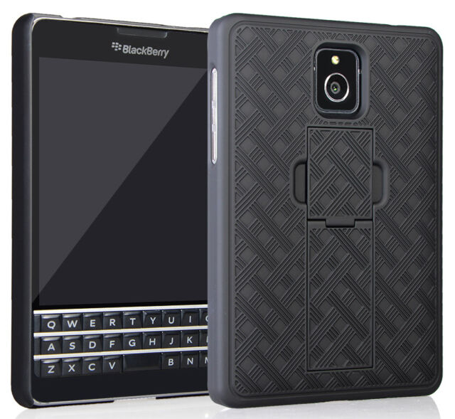 lowest price 41212 beeed Blackberry Passport Case/cover Nakedcellphones Black Kickstand Case Slim  Hard S
