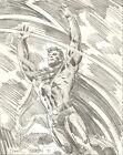 DAN BRERETON   SUPERMAN   large drawing   original art