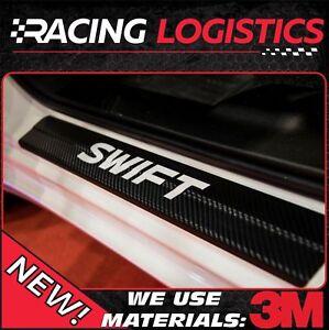 Details about SUZUKI SWIFT SILL Carbon Fiber 3D Protectors 1 2 1 0 CVT  Boostejet Dualjet 17-18