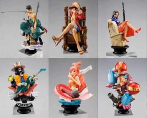 One Piece luffy anime  figure PVC figures doll dolls set of 6pcs UT166 vivid ne