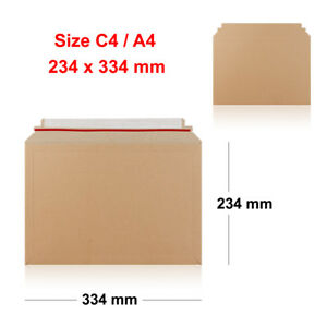 C4 Plain Self Seal Manilla Brown Envelopes New A4 SS FAST DISPATCH