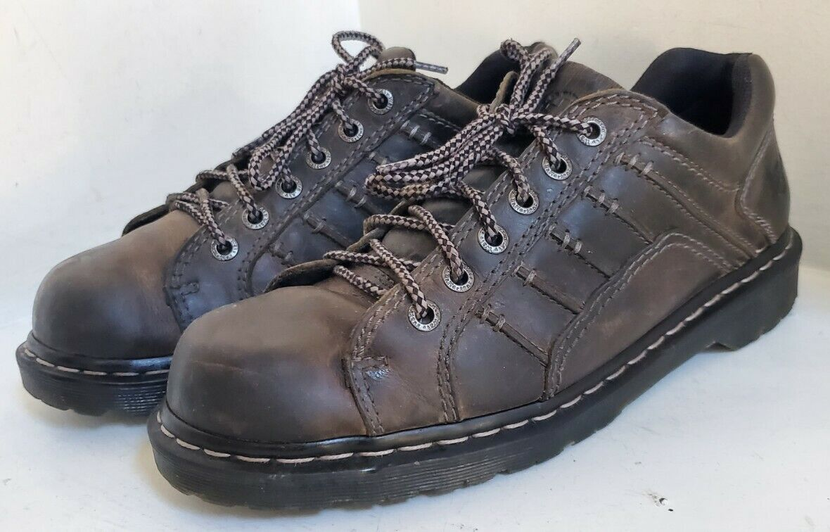 Dr Martens Sz US 12M (AW004) Keith Brown Leather Lace Up Oxford Shoes Air Wair