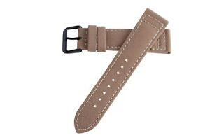 22mm-Herren-Sand-Khaki-Tan-Cordura-Canvas-Watch-Band-Strap-schwarz-PVD-Dornschliesse-MS850