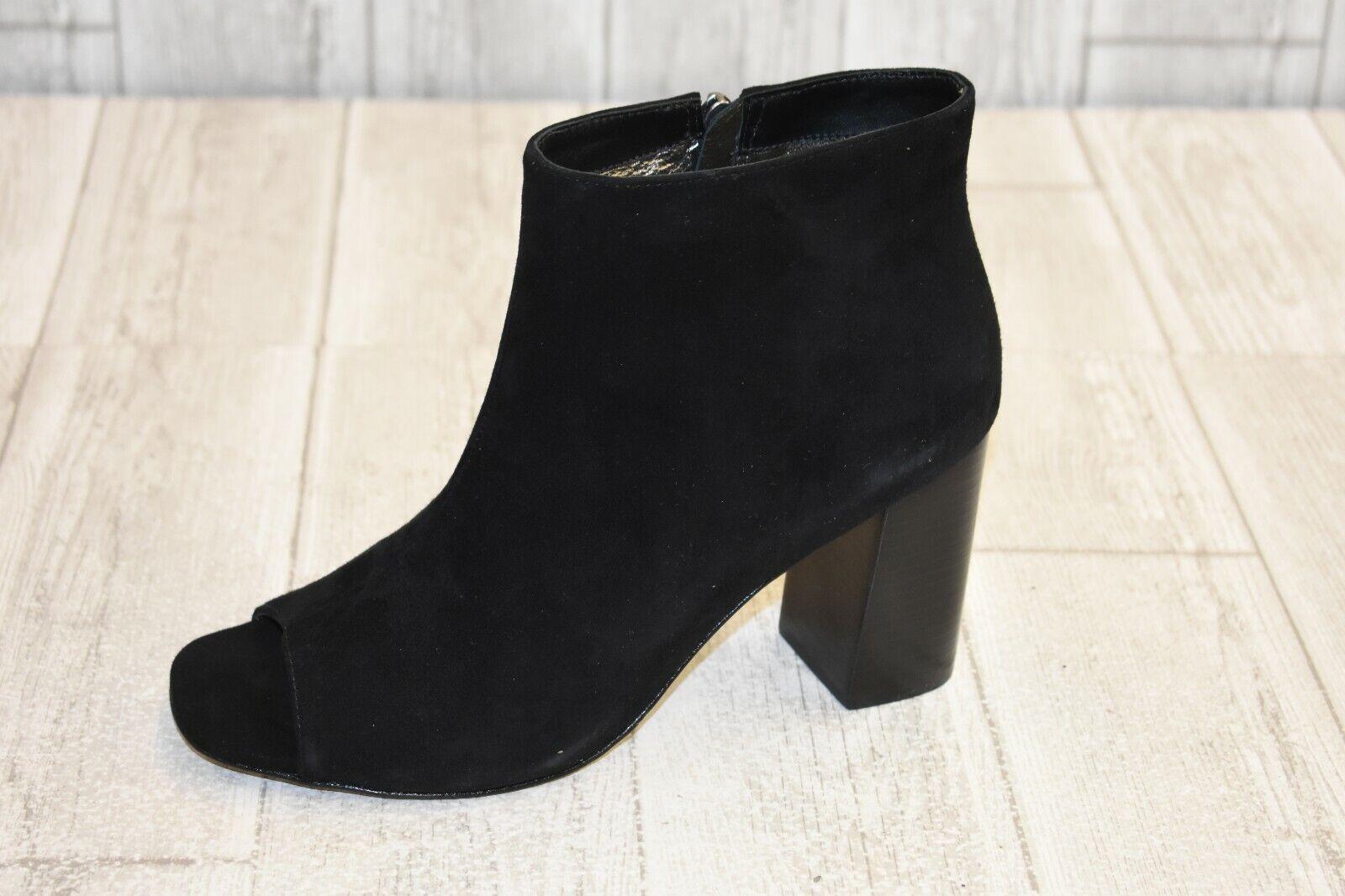 Johnston & Murphy Lizzie Peep Toe Booties - Women's Size 9 M - Black NEW
