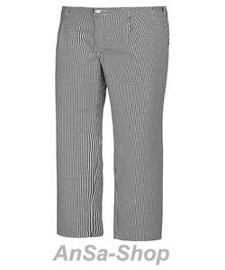 De Cuisinier, écossais, Noir/blanc, 099200, Pantalon, Kochbekleidung-afficher Le Titre D'origine En Quantité LimitéE