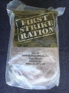 MRE / FIRST STRIKE RATION ( Menu 8 ) 24 Hour / 3 Meal Ration