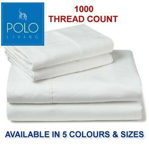 POLO-1000-THREAD-COUNT-FITTED-SHEET-SET-SB-KSB-DB-QB-amp-KB-SIZES-AVAILABLE