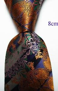 New-Classic-Floral-Black-Gold-Green-JACQUARD-WOVEN-100-Silk-Men-039-s-Tie-Necktie