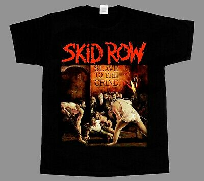 Skid Row T-Shirt Slave to the Grind World Tour Front and Back Black Tee