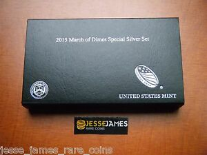 NO-COINS-2015-W-MARCH-OF-DIMES-SPECIAL-SILVER-SET-BOX-COA-BUY-2-GET-3RD-FREE