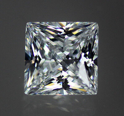 White / Clear AAAAA 53 Facet Square Princess Cut Cubic Zirconia CZ 6-20mm